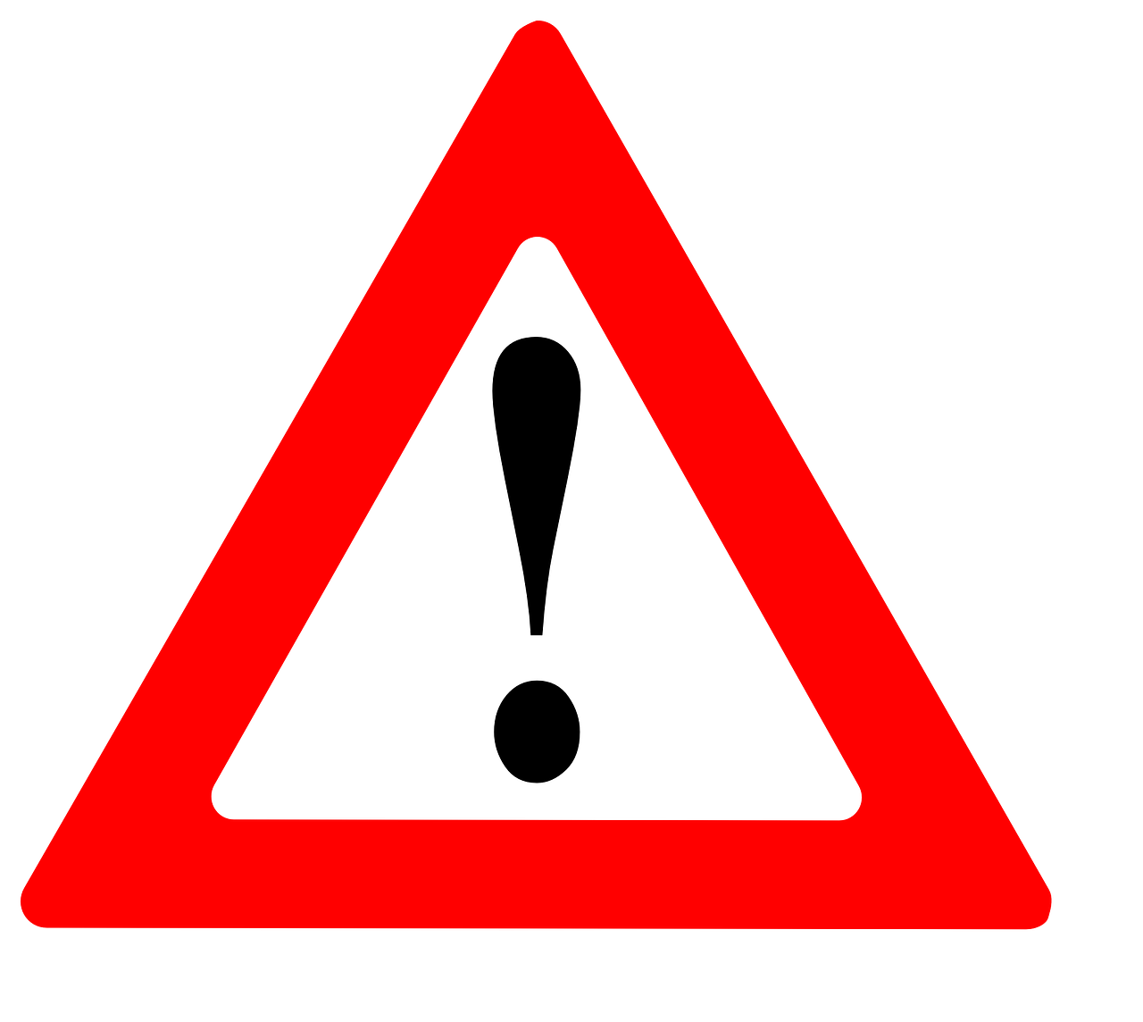 Panneau triangle de signalisation : attention